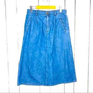 3/$30 Forever 21 Denim Midi Skirt Sz L